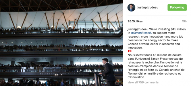 We are very lucky to have Justin Trudeau as our leader